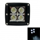 GULEEK F012F 12W 840lm 6000K 4-LED White Flood Light Working Lamp for Offroad Car (10~30V)