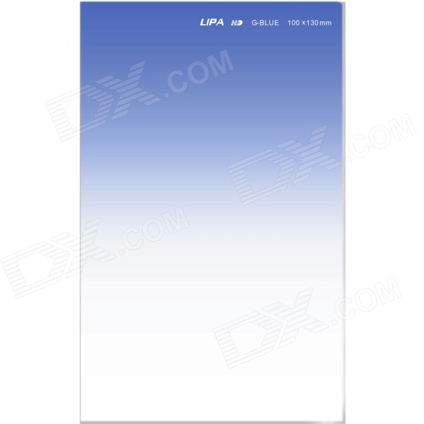 LIPA 4'' x 5.2'' Graduated Soft Optical Resin Filter for Cokin Z Series + More - Translucent Blue