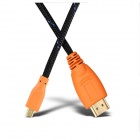 Yellow Knife YK074 HDMI V1.4 Male to Micro HDMI Male HD Data Cable - Orange (150cm)