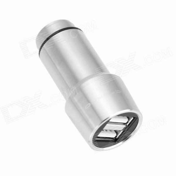 CRERCO 2.4A Dual-USB Smart Car Emergency Hammer Charger - Silver