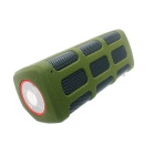 Portable Bluetooth V4.0 Hi-Fi Outdoor Speaker w/ Mic. / USB 2.0 for Phone / Laptops - Army Green