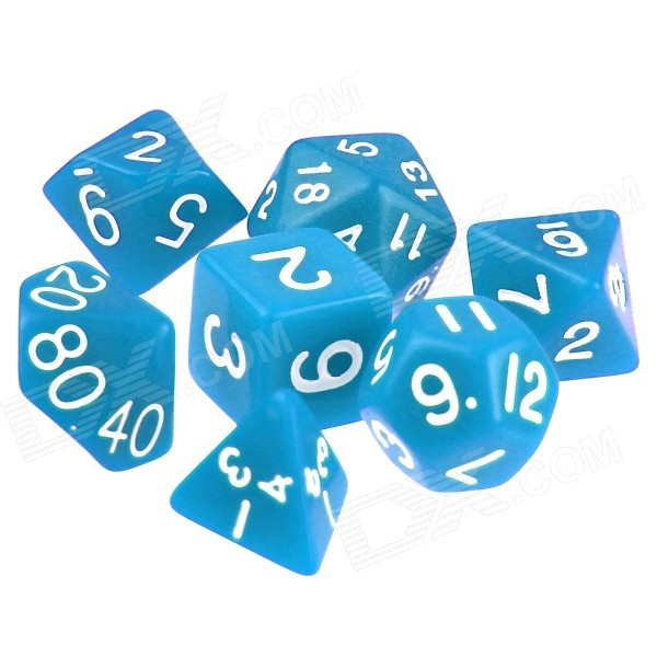 ENKAY Table Game 15-20mm D4 D6 D8 D10 D12 D20 Dice for Dungeons & Dragons - Blue