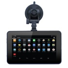 "7"" 720p HD android carro navegador GPS tablet PC w / DVR / FM / wi-fi / 8 GB de memória flash / US + CA mapa"