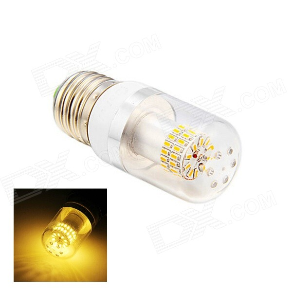 E27 4W 180lm 3000K 50-SMD 3014 LED Warm White Light Lamp Bulb - White (AC 110~220V) e14 4w 220lm 6500k 50 smd 3014 led white light candle lamp bulb white ac110 220v