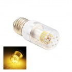 E27 4W LED Warm White Light Bulb - White (AC 110~220V)