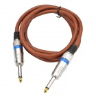 CHEERLINK 6,35 mm a 6,35 mm Karaoke Audio Cable para micrófono - Brown + plata (160cm)