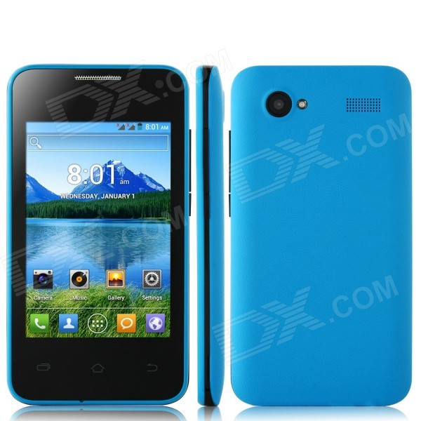 H-mobile F3 Android 4.2 Dual Core GSM Smartphone w/ 3.5, Quad-band, WiFi, BT, FM - Blue
