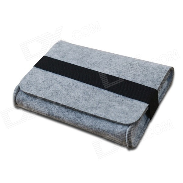 Oushine Portable Felt Storage Sleeve Bag for Mouse / Power Pack + More - Grey