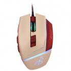 Sunsonny CCDY90C4 6-Button 600 / 1000 / 1600DPI USB Wired Gaming Mouse - Red