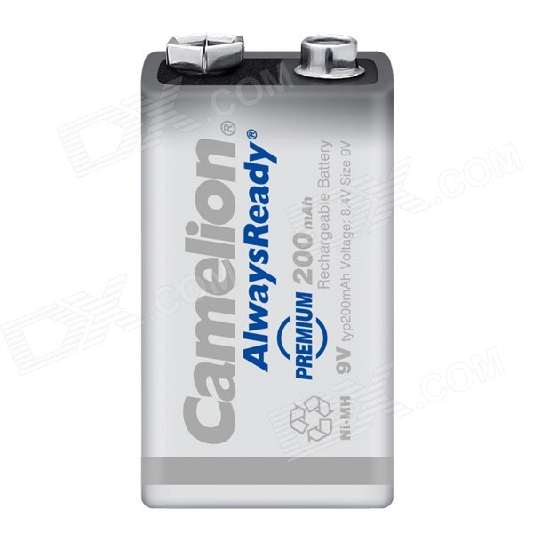 Camelion AlwaysReady Low Self-Discharge 200mAh Ni-MH 9V Rechargeable Battery