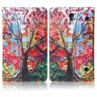 ENKAY Maple Tree Pattern PU Leather Flip Open Case w/ Stand for Samsung Galaxy Tab S 8.4 T700