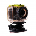 "V70 1080P Video Full HD Sports 1/2.7"" CMOS 5MP Helmet Action Camera - Black + Orange"