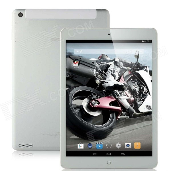 SOSOON X98 9.7 IPS Android 4.4 Quad-Core Tablet PC w/ 1GB RAM / 16GB ROM / Wi-Fi - Silver + White sosoon x88 quad core 8 ips android 4 4 tablet pc w 1gb ram 8gb rom hdmi gps bluetooth white