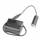 JX-3 Portable 8.4V 6600mAh Rechargeable 6-18650 Li-ion Battery Pack + Charger - Black
