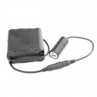 Buy Portable 8.4V 8000mAh Rechargeable 8-18650 Li-ion Battery Pack + Charger - Black