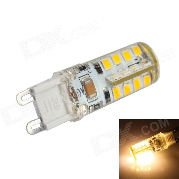 GC G9 2.5W 36x2835 SMD LED 220LM 3000K Warm White Light Corn Bulb (AC 200-240V) gc e14 3w 170lm 3000k 64 3014 smd led warm white light corn bulb ac 90 240v