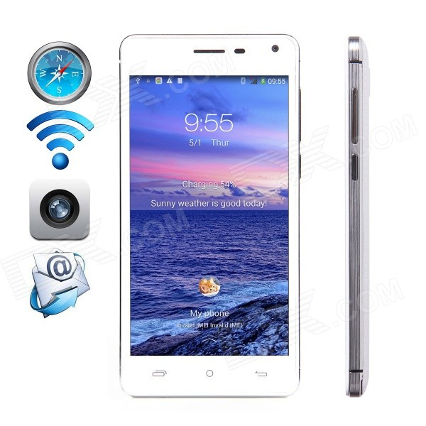 CUBOT S200 Android 4.4 Quad-core WCDMA Bar Phone w/ 5.0 IPS HD, 8GB ROM, Wi-Fi, GPS - White barriers of e commerce acceptance in export