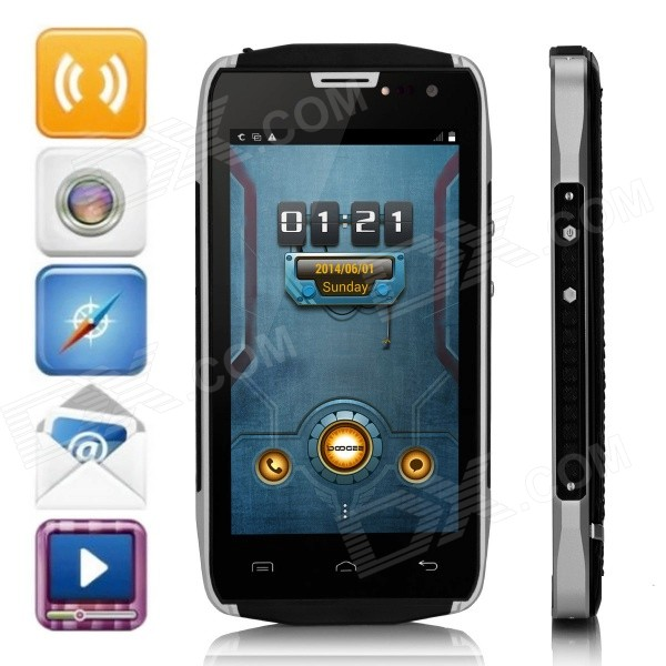 DOOGEE TITANS2 DG700 Android 4.4 Quad-Core WCDMA Bar Phone w/ 4.5