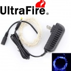 Ultrafire 6W 35000MCD Blue 100-LED Decorative Christmas Light Strip w/ US Power Adapter