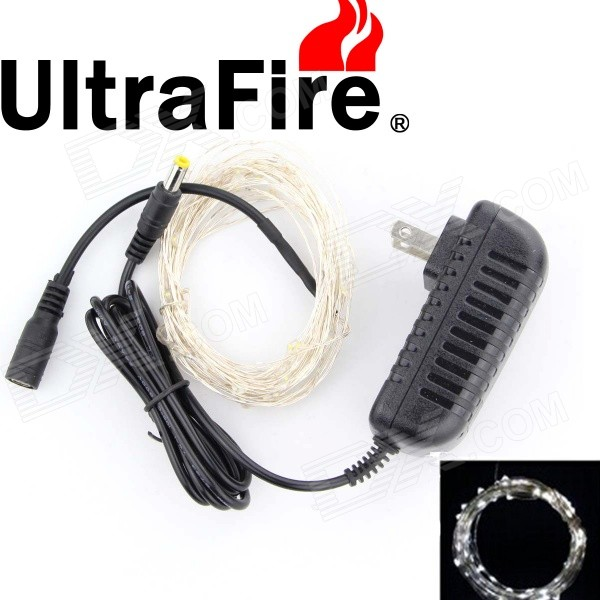 Ultrafire 6W 7000K 35000MCD White 100-LED Decorative Christmas Light Strip w/ US Power Adapter