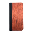 Buy Protective PU Leather + PC Wooden Case IPHONE 5 / 5S - Black