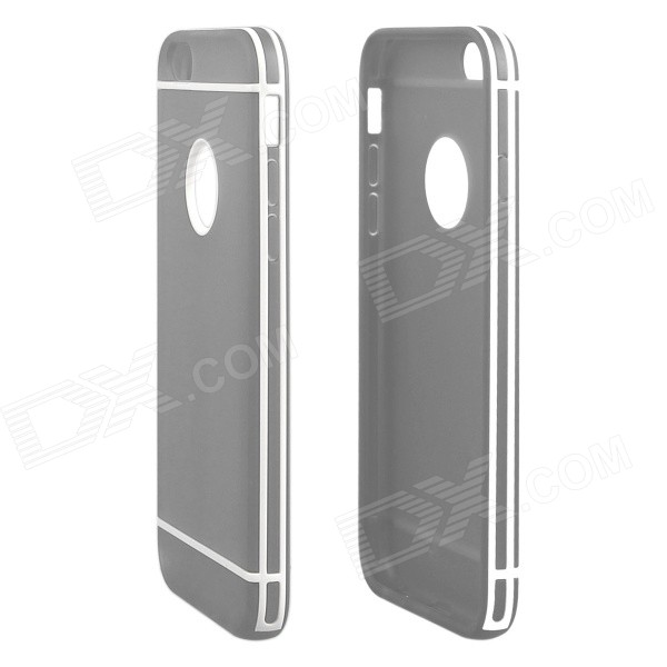 Hat-Prince Protective TPU Back Case with Detachable Plastic Frame for IPHONE 6 PLUS - Gray