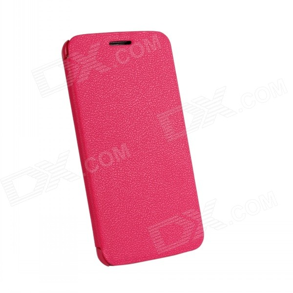 Protective Flip Open PU Leather Case for LG Optimus G2 - Deep Pink protective flip open pu leather case for lg optimus g2 d802 f320 black