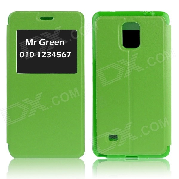 Hat-Prince Protective Case w/ Call Display + Stand for Samsung Galaxy Note 4 N9100 - Green чехол для для мобильных телефонов leather for samsung galaxy note 4 n910 4 samsung n910 pu samsung 4 note4 stcsamnt4lea001