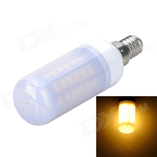 Marsing E14 Frosted Cover 10W 1000lm 3500K 56 x SMD 5730 LED Warm White Light Bulb Lamp (AC 220V) marsing e14 12w 1000lm 3500k 69 smd 5730 led warm white light bulb lamp ac 220 240v