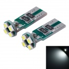 Buy T10 1W 18lm 6000K 4-SMD 1210 LED White Light Car Width Lamp(12V / 2 PCS)