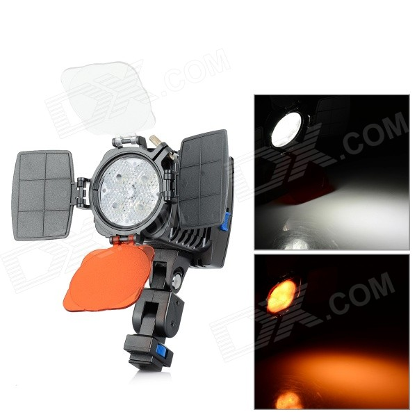 LED-5005 650lm 4-LED Warm White / White Video Light for Sony F550 / F750 / F960 / F970 - Black