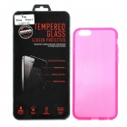 "Protective PVC Back Case + Tempered Glass Screen Guard Set for IPHONE 6 4.7"" - Deep Pink"