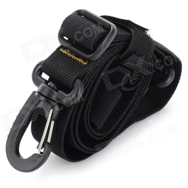 EDCGEAR Backpack Accessory High Intensity Nylon Tying Band w/ Buckle - Black