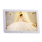 "12"" OLED Screen Professional Digital Picture Photo Frame w/ Remote Control / SD / MS - White"