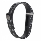 Large Wrist Band w/ Clasp for Fitbit Flex Smart Bracelet - Black+White