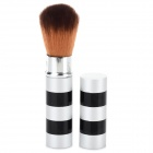 Portable Retractable Makeup Cosmetic Brush - Black + Silver