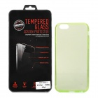 "Protective Plastic Back Case + Tempered Glass Screen Guard Set for IPHONE 6 4.7"" - Green"