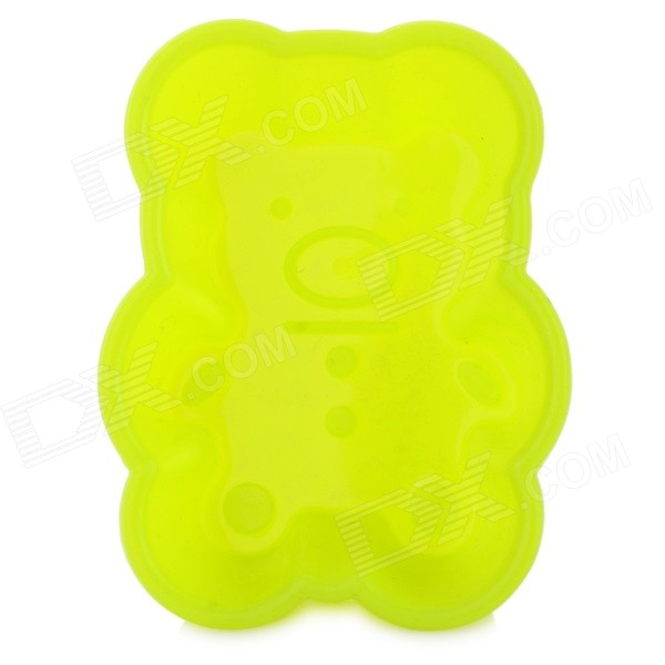 Cute Bear Style Silicone Cake Food Mold - Fluorescent Yellow shanghai special food cake snacks aolijia walnut cakes 200g