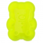 Cute Bear Style Silicone Cake Food Mold - Fluorescent Yellow