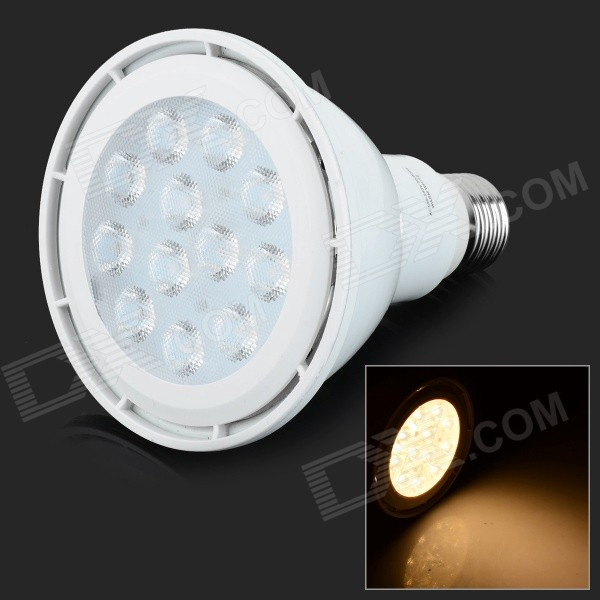 YouOkLight E27 12W 830lm 3200K 12-SMD 3030 LED Warm White Light Spotlight - White (AC 100~240V) youoklight 13w gu10 810lm 3200k 2 cob warm white light spotlight silver grey ac 100 240v