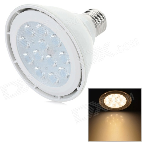 YouOkLight E27 12W 830LM 3200K 12 x 3030 SMD LED Warm White Light Spotlight - White (AC 100~240V) youoklight 13w gu10 810lm 3200k 2 cob warm white light spotlight silver grey ac 100 240v