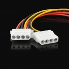 1-to-2 IDE 4-Pin Male to Female Extension Power Cable - White + Black (4 PCS)