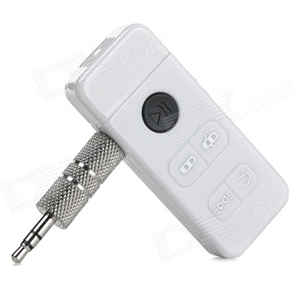Mini Car Bluetooth V4.0 Music Receiver for IPHONE / IPAD / PDA / MP4 + More - White