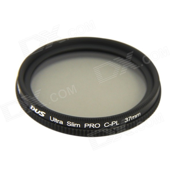 NISI 37mm PRO CPL Ultra Thin Circular Polarizer Lens Filter for Nikon / Canon + More - Black + Grey nisi 55mm pro mc cpl multi coated circular polarizer lens filter for nikon canon more black