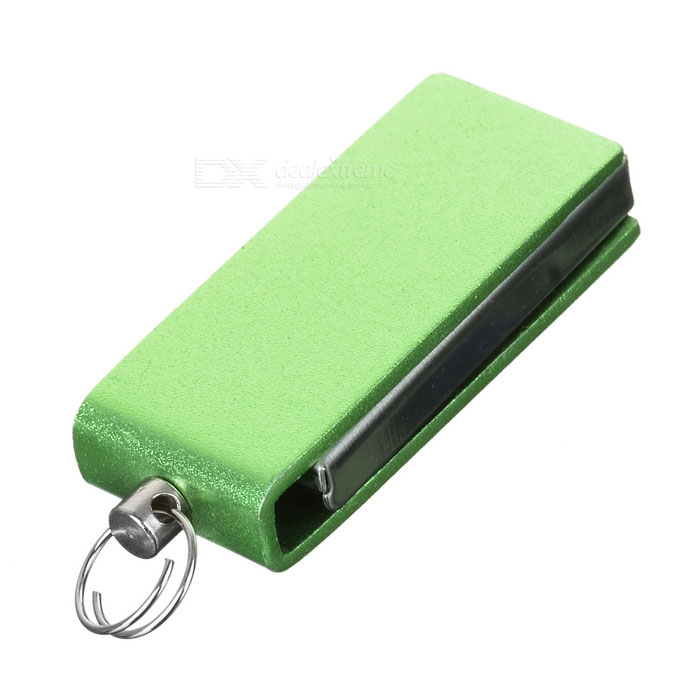 Mini Rotary USB 2.0 Flash Drive - Green + Silver (16GB)