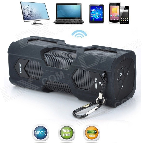 Viña MS-329 escorpión estilo impermeable NFC Wireless Bluetooth V4.0 altavoz para celular / PC - negro