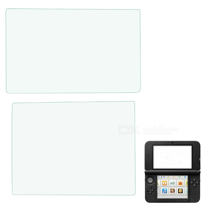 Protective Upper + Lower PET Clear Film Set for NEW  3DSXL - Transparent
