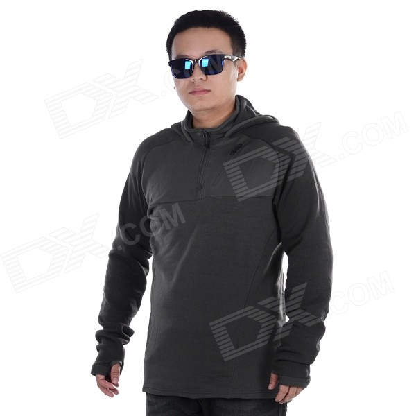 EDCGEAR Men's Casual Polyester + Nylon + Spandex Hoodie Sweater - Grey (XL)