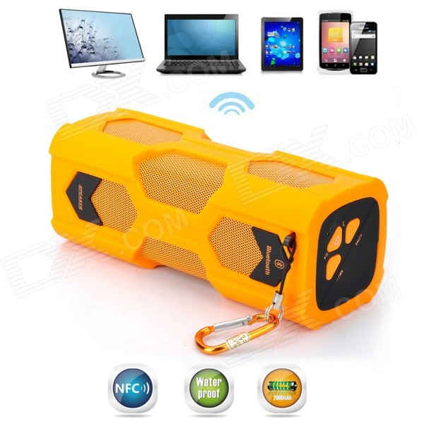 VINA MS329 Scorpion Style Waterproof NFC Wireless Bluetooth V4.0 Speaker for Cellphone / PC - Orange vina ms 319 portable outdoor wireless bluetooth 4 0 nfc mini speaker for iphone more green page 10