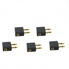 3.5mm 2* Male to 1* Female Airline Headphone Convertor - Black (5 PCS)